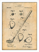 1910 Golf Club Patent Patent Print Art Drawing Poster 18x24