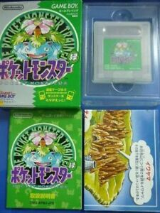 Nintendo-Gameboy-Pokemon-Green-Version-Pocket-monsters-GB-Japan-w-box-manual-map