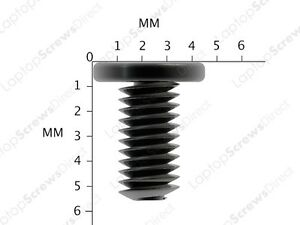 12x-Asus-LAPTOP-SCREWS-for-Base-Plastic-Black-Zinc-M2-5X5mm-M2-5x5L-Vis-Scraube