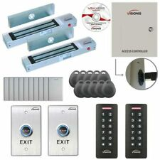 Visionis Two Door Access Control With Software Maglocks Amp Keypadcard Readers