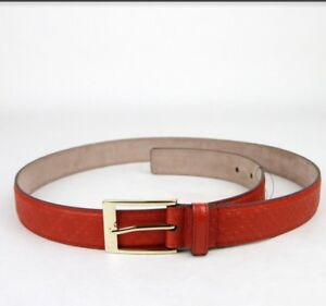 3920a2b21 Image is loading NEW-Authentic-GUCCI-Mens-Diamante-Leather-Belt-SZE-