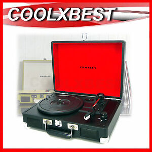 CROSLEY-CRUISER-PORTABLE-TURNTABLE-RECORD-PLAYER-w-BUILT-IN-SPEAKER-3-SPEED-RFB