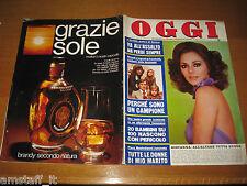 OGGI 1974/8=GIOVANNA RALLI=GIACINTO FACCHETTI INTER=SENTA BERGER=BRUNO ARCARI=