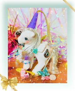 ❤️My Little Pony MLP G1 VTG Princess Tiffany Pearl White Jewel Purple Hat WOW❤️