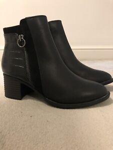 Ladies Ex Next Faux Leather Ankle Boots