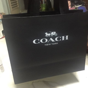 low price quality products sale retailer Details about COACH 1pc Black Shopping Gift Tote Paper Bags In Various Sizes