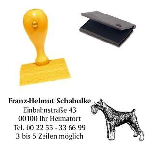 Adressenstempe<wbr/>l « SCHNAUZER » mit Kissen - Hundeschule Zwergschnauzer