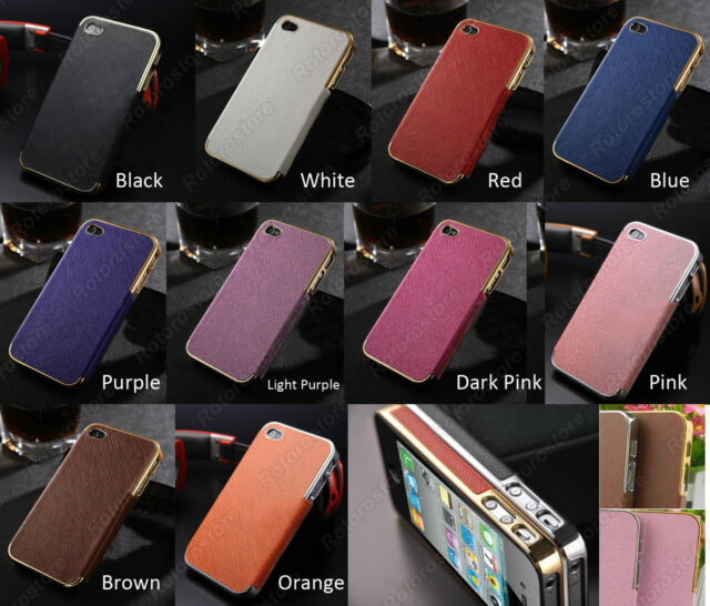 iPHONE 5 5S SE Textured Cross Faux Leather Edge Hard Shell Cover Case