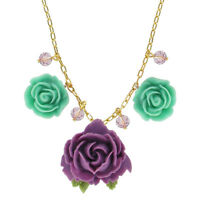 Tarina Tarantino Parade pasadena Necklace Purple & Mint Made In California