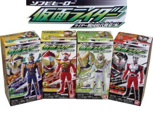 Soft Vinyl Hero Kamen Rider Sengoku Opening Boxset Gaim Baron Ryuki Set of 4pcs