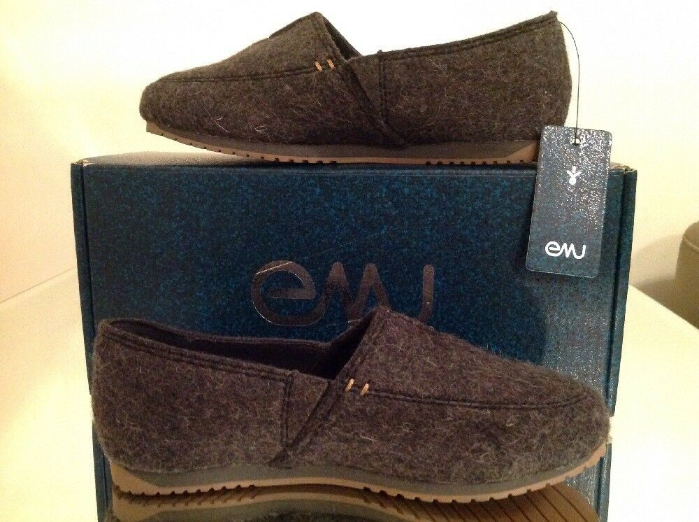 EMU Dayton Merino Wool UK Slip On Slipper Charcoal UK Wool 3 BNWT 486408
