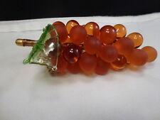 NEW Arte Di Murano Italy Original Glass AMBER   Fruit Grapes With Sticker & Tag