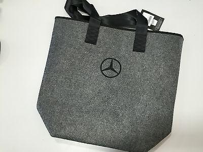 Bescheiden Mercedes-benz Shopper Einkaufstasche In Grau Mit Logo Und Trageriemen Stabile Konstruktion