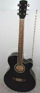 FidèLe Vintage Sierra Sequoia Bois Foncé Brillant Guitare électrique Modèle Sqcg 183 Etbk-afficher Le Titre D'origine