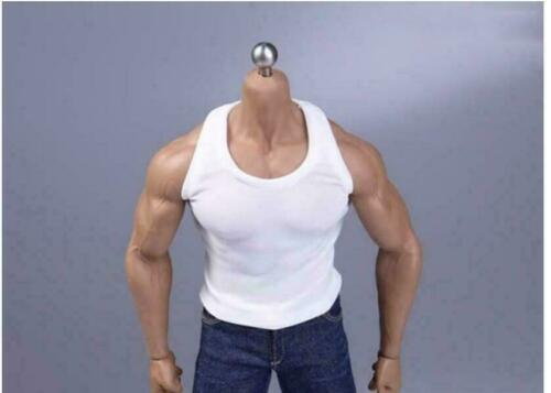 "Man White Sports Vest Clothes Clothing1//6 Scale For 12/"" Male Action Figure Doll"