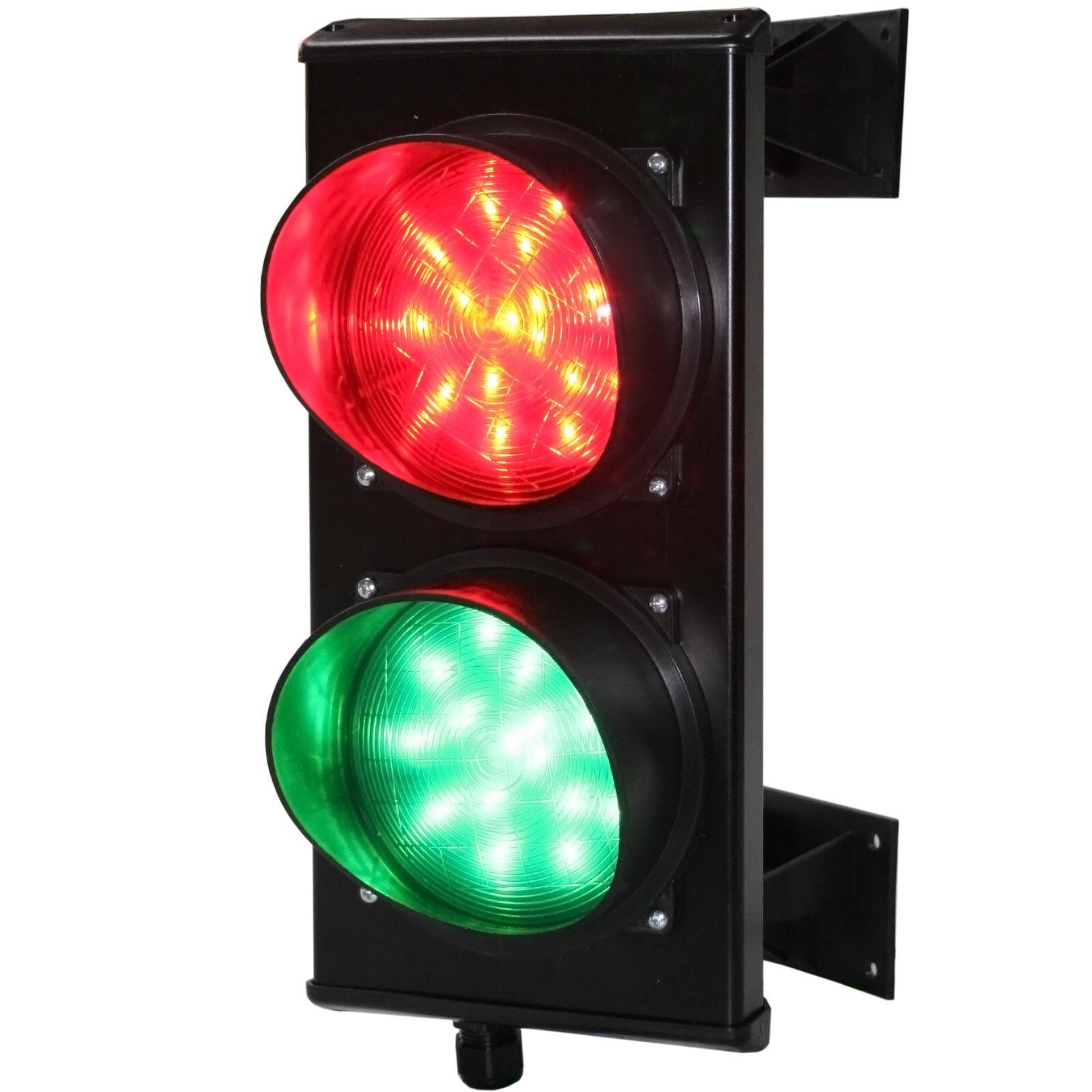 Verkehrsampel rot-grün LED 24 oder 230 V im Alugehäuse Signalampel, Ampel