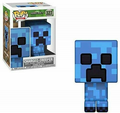 FUNKO POP GAMES MINECRAFT  327 CHARGED CREEPER VAULTED VINYL FIGURE