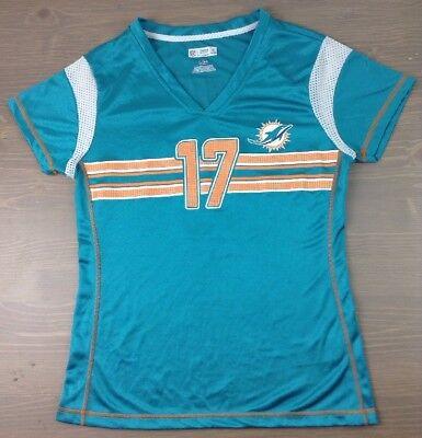 Miami Dolphins Jersey Small Womens Ryan Tannehill #17 NFL Team Apparel Shirt Grn