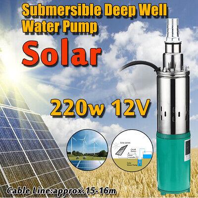 Bohrloch- & Brunnenpumpen 220w 45m Elektrisch Solar Farm Wasser Pumpe Loch Gut 1,2 M ³/h Tauchpumpe Garten Hydraulik, Pneumatik & Pumpen