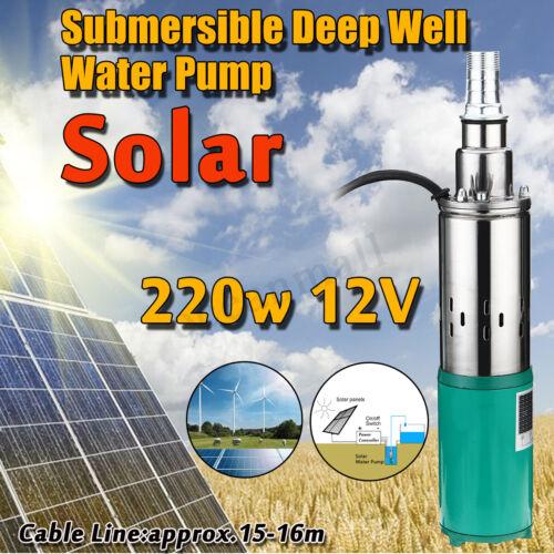 220W 45M elektrisch Solar Farm Wasser Pumpe Loch gut 1,2 m ³/h Tauchpumpe Garten