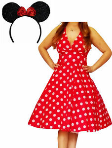 Details about MRS@ Funfash Plus Size Halloween Costume Red White Dots Dress  Minnie Mouse Ears