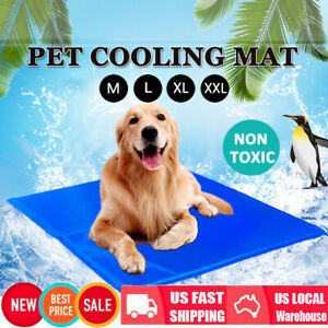 Dog-Cooling-Mat-Pet-Cat-Chilly-Non-Toxic-Summer-Gel-Bed-Pad-Cushion-Indoor-M-XXL