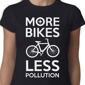 533a760e1c7d More Bikes Less Pollution Ladies t-shirt EXERCISE POLLUTION BIKE ...