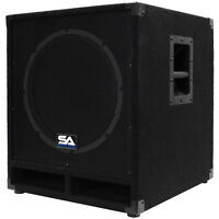 Seismic Audio Powered 15 Subwoofer Cabinet Pa Dj Pro Band Speaker Active Sub on sale