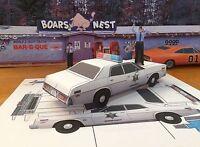 Papercraft Dukes Of Hazzard Enos's 1978 Plymouth Fury Ezu-build Papertoymodelcar