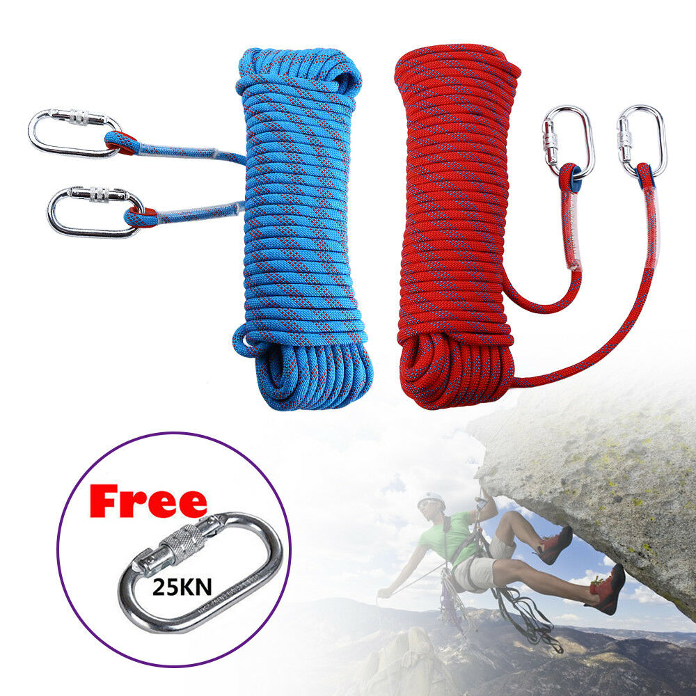 10-30M 12KN 10mm Diamete Safety Outdoor Climbing Rope  Rappelling Cord Auxiliary  ultra-low prices