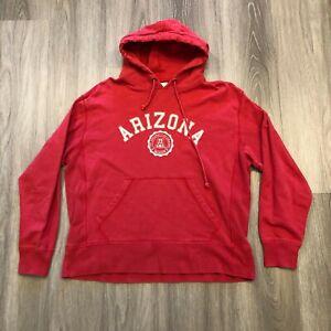 Banner Supply Mens Medium University of Arizona Wildcats Hoodie Sweatshirt Red