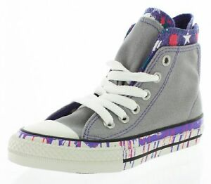 2ab6c9a420d457 Converse Girl s CT Zip Back Lucky Stone Grey Multi Hi Top Sneakers ...