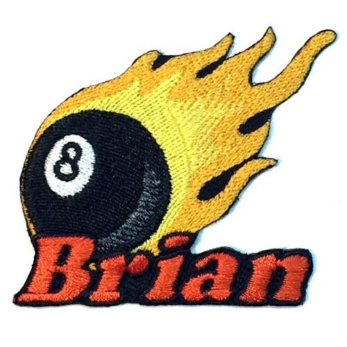 Billiards 8 Ball Custom Iron-on Patch With Name Personalized Free Pool