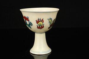 China-Jingdezhen-Porcelain-Hand-painted-Dragon-Phoenix-Pattern-Porcelain-Cup
