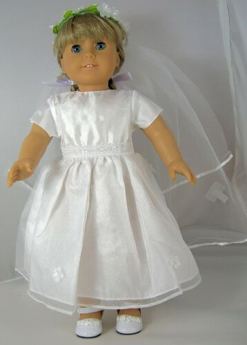 Communion//Wedding  2pc Dress Set Fits 18 inch American Girl Dolls