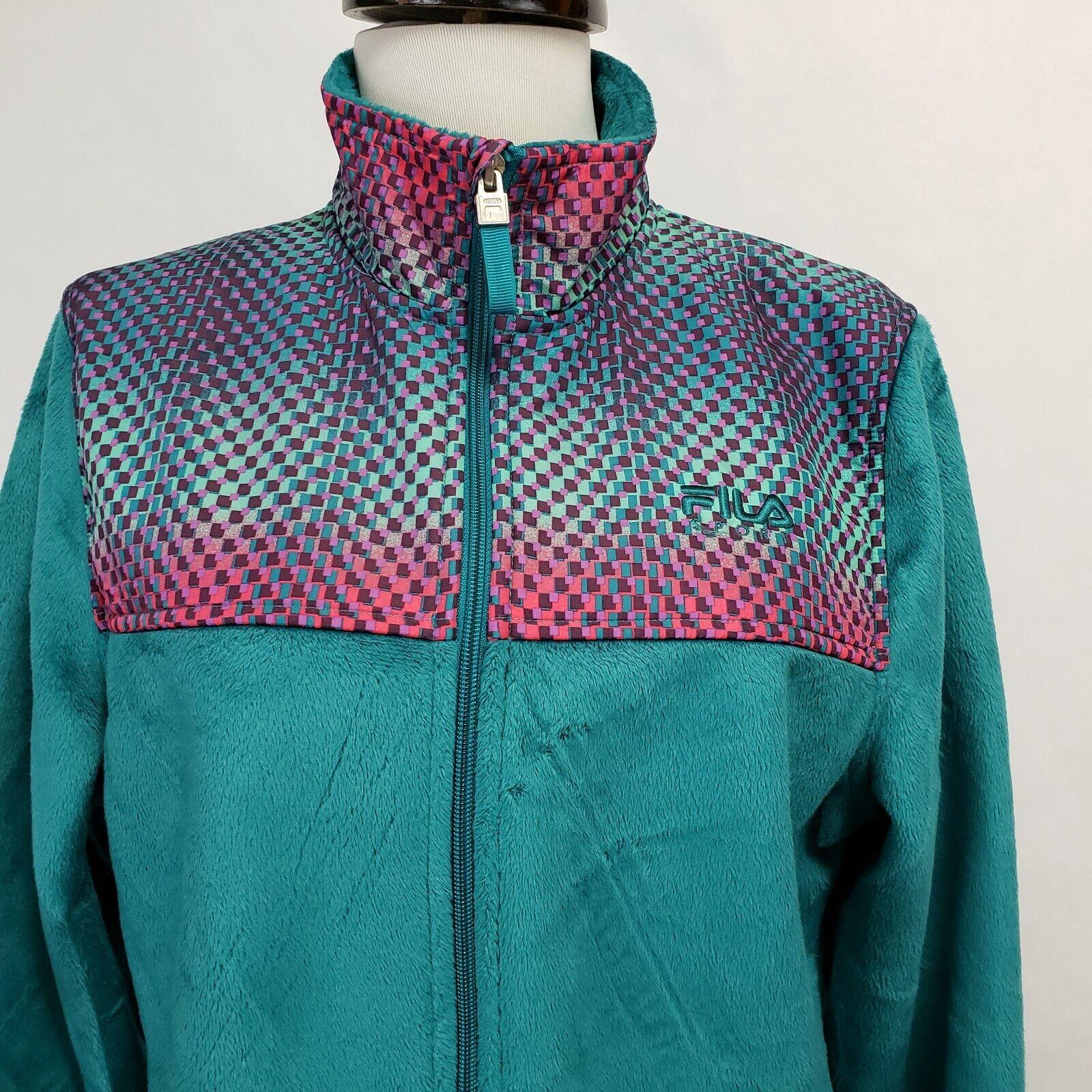 Fila Sport Womens Medium Zip up Fleece Track Jack… - image 3