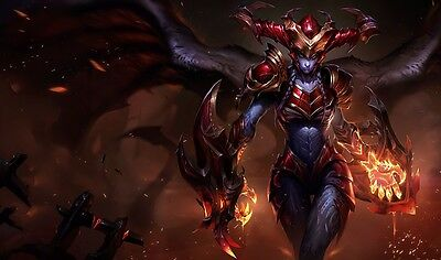 Shyvana - Awesome .  LOL - Amazing  - Poster  24 x 15 INCH -  ( Fast Shipping )