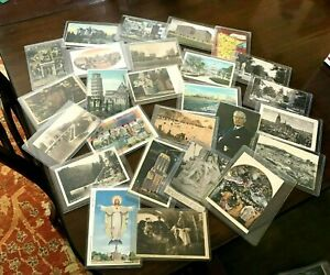 Vintage-Postcard-lot-estate-offering-240-different-cards-unsearched-w-cases