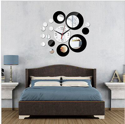 2015 new acrylic big wall clock quartz watch diy clocks 3d stickers