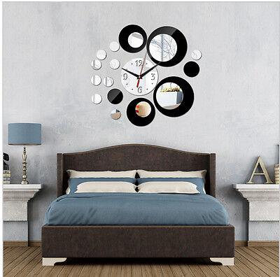 2017 new acrylic big wall clock quartz watch diy clocks 3d stickers