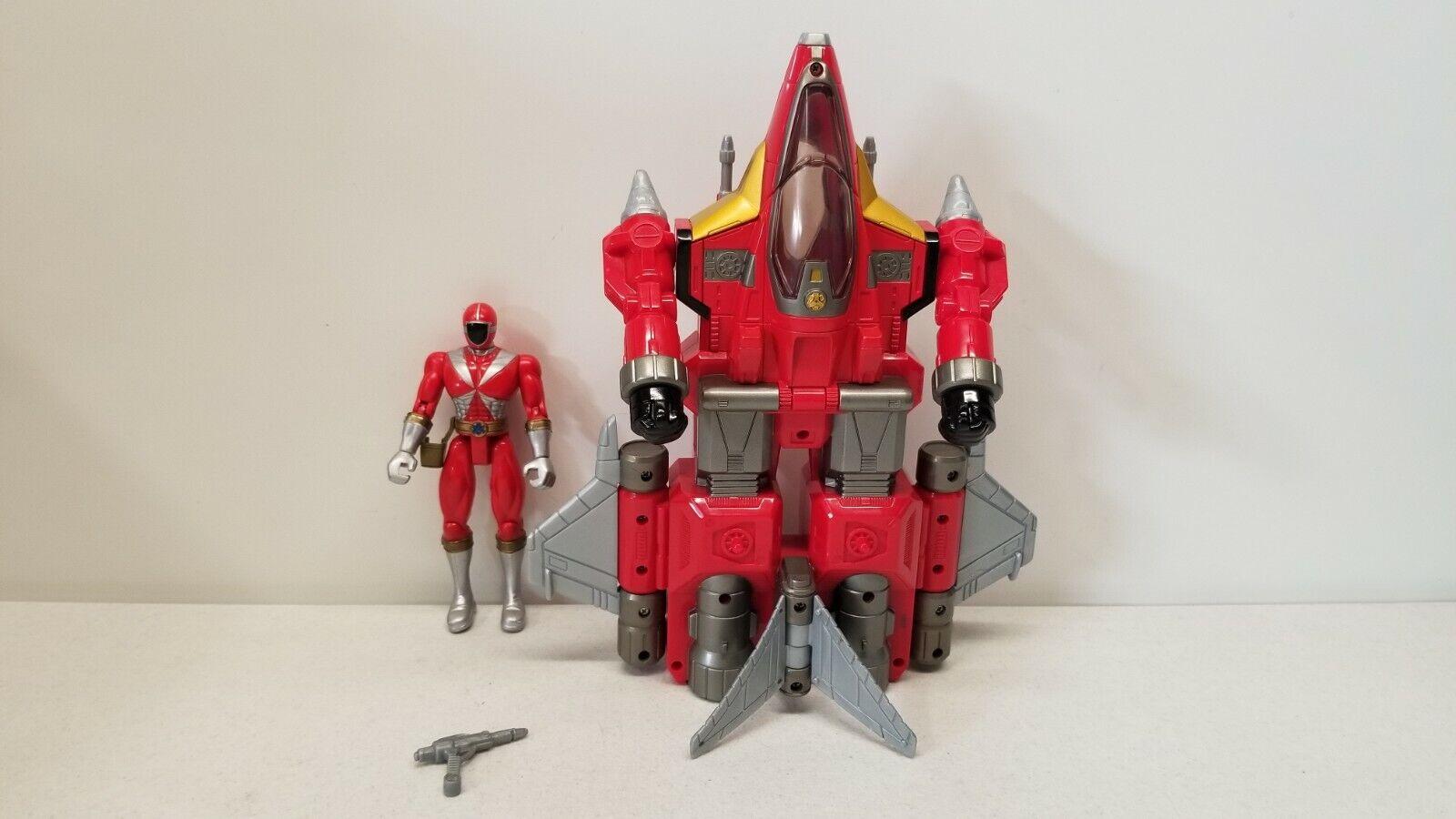Power Rangers LIGHTSPEED RESCUE Deluxe rot MOBILE ARMOR vehicle megazord morpher
