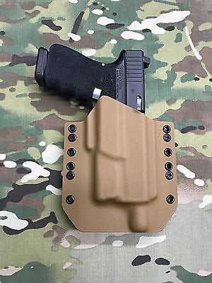 Battleship Gray Kydex Holster for Glock 19 23 Threaded Barrel Surefire XC1
