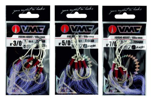 VMC Jigging Assist Hook 7264AH Beifängerhaken 3//0 bis 7//0 Assist Haken Jigging