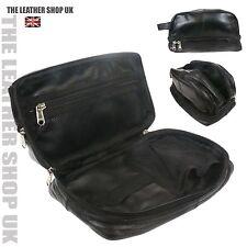 Casual Vera Pelle Uomo Beauty Case Da Viaggio BagToiletry Organizer Bag 3530