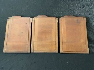 3x Alte Kassette  13x18 / 16,5 x22,5 Planfilm doppelt mit Holz für alte Kamera