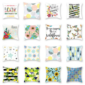 Am-Letter-Flower-Bird-Star-Pillow-Case-Cushion-Cover-Sofa-Bed-Car-Home-Decor-No
