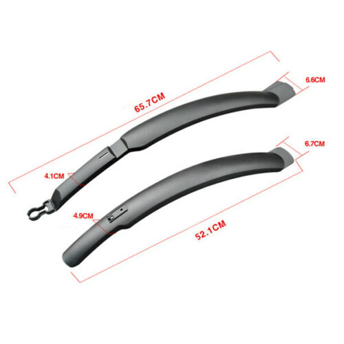 Black Bicycle Mud Mountain Bicycle Bike Front//Rear Tire Fender Cycling Mudguard