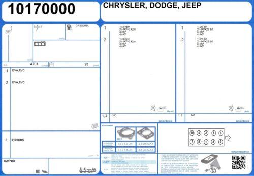 10//2001-9//2004 Cylinder Head Bolt Set JEEP CHEROKEE V6 3.7 204 EKG