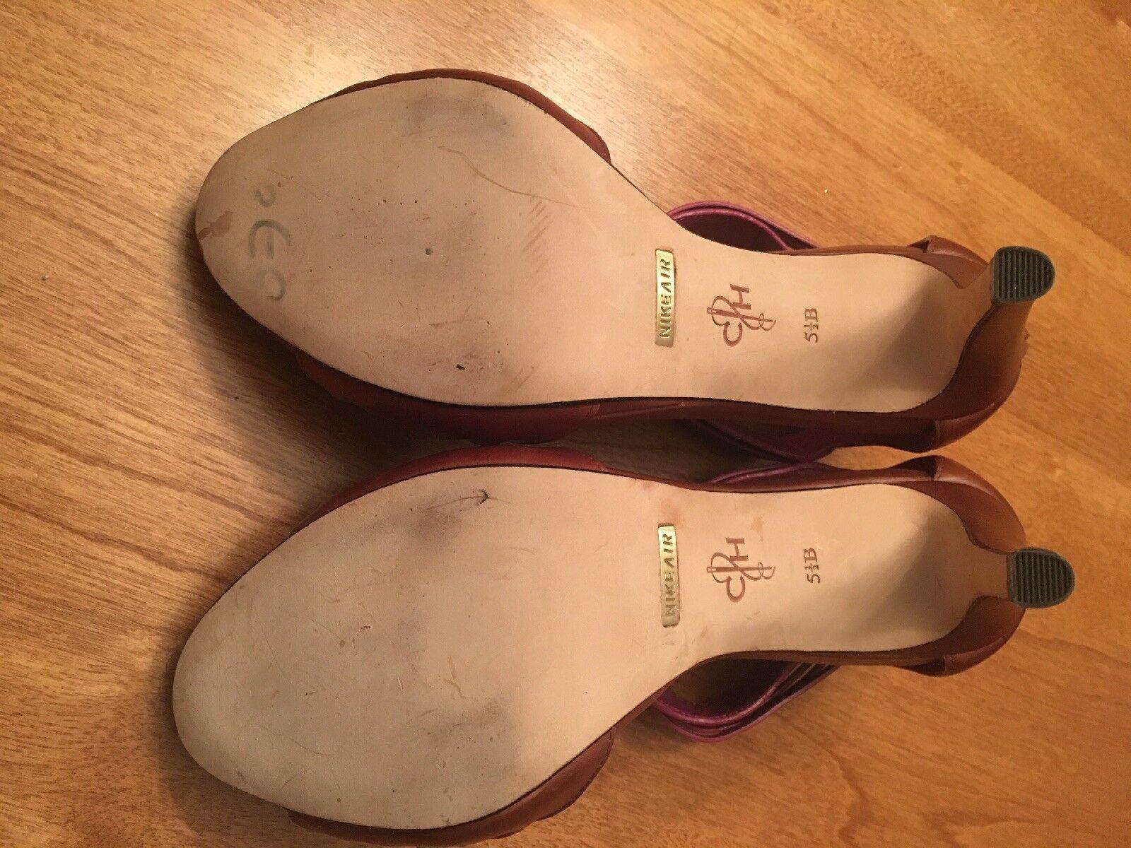 Cole Haan Vivian Vivian Vivian Air braun lila Woven Leather Heel SIze 5.5 Store Display 48cd55