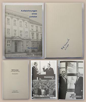 ZuverläSsig Rolf Krumsiek Aufzeichnungen Eines Juristen 2004 Memoiren Politiker Signiert Xz Neueste Mode Politik, Adel & Militär